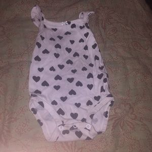 Black heart onesie